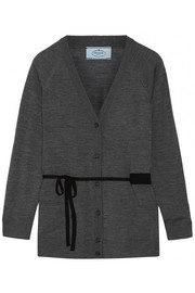 Belted wool cardigan