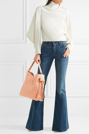 Alix small textured-leather tote
