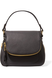 Jennifer medium textured-leather shoulder bag