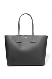 T small textured-leather tote