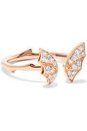 Fly By Night Mini 18-karat rose gold diamond ring