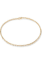 18-karat gold diamond choker