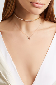 18-karat rose gold diamond necklace