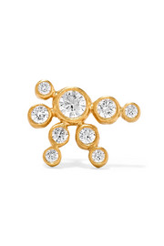 Flacon de Neige 18-karat gold diamond earring