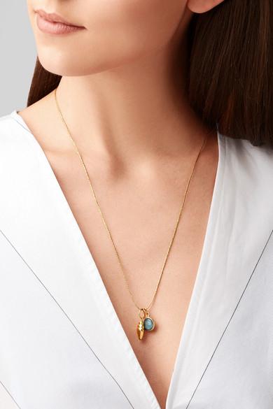 Pippa Small 18-karat Gold Aquamarine Necklace kT0oqxO2jv