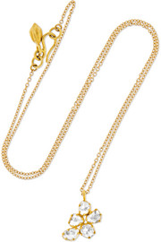 Pippa Small 18-karat gold diamond necklace