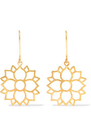 18-karat gold earrings