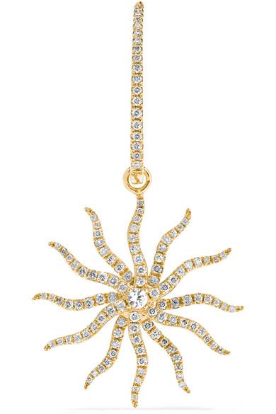 Yvonne Léon - 18-karat Gold, Diamond And Sapphire Earring