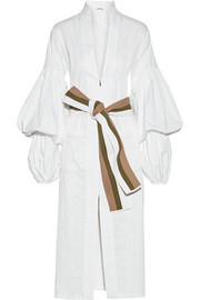 Johanna Ortiz Palomino belted stretch-cotton poplin midi dress