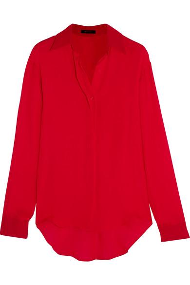 Juan Carlos Obando - Silk Crepe De Chine Shirt - Red