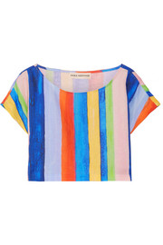 Mara Hoffman Striped organic linen top