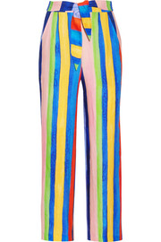Mara Hoffman Striped organic linen wide-leg pants