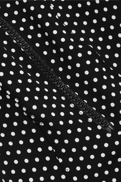 Lisa Marie Fernandez Jasmine Of Bonded Swimsuit With Polka Dots-