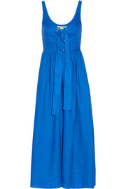 Mara Hoffman Lace-up linen midi dress