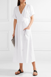 Mara Hoffman Organic linen wrap midi dress