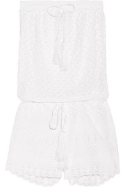 Melissa Odabash Everley embroidered georgette playsuit