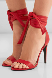 Bow leather sandals