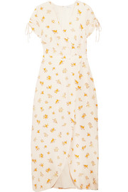 Madewell Magdalena wrap-effect floral-print silk crepe de chine dress