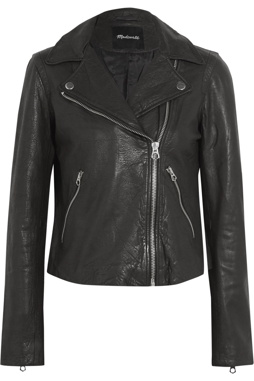 Madewell Textured-leather biker jacket