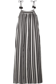 Nora striped cotton-blend maxi dress