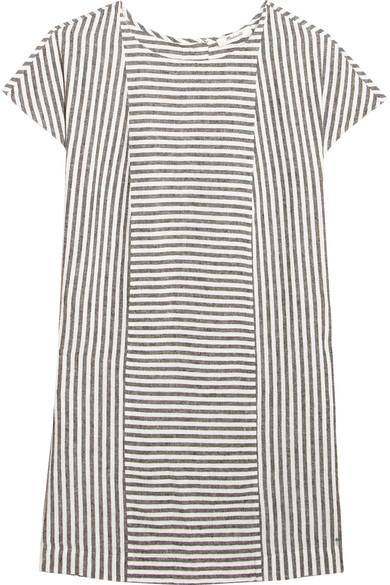 Madewell - Daphne Striped Linen-blend Mini Dress - Gray