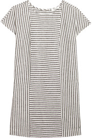 Daphne striped linen-blend mini dress
