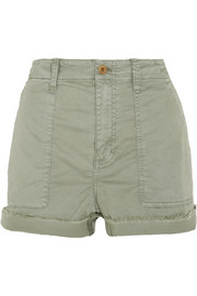 Madewell Stretch-cotton twill shorts