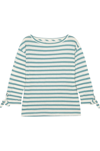 827af1a5873 Madewell. Striped slub cotton and linen-blend top