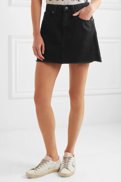 Madewell | Frayed denim mini skirt | NET-A-PORTER.COM