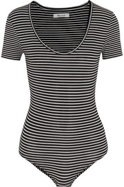 Madewell Lennon striped stretch cotton-blend jersey bodysuit