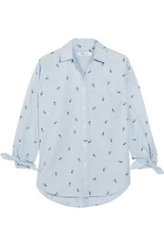 Madewell Embroidered cotton-chambray shirt