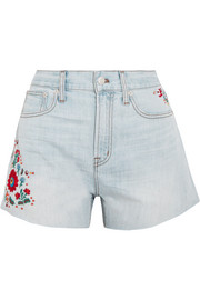 The Perfect embroidered denim  shorts