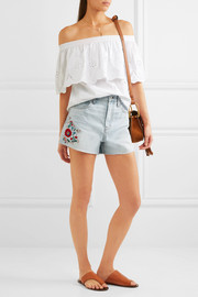 Madewell The Perfect embroidered denim  shorts
