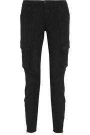 Montgomery stretch cotton-twill skinny pants