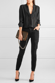 L'Agence Montgomery stretch cotton-twill skinny pants