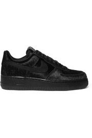 Air Force 1 calf hair sneakers