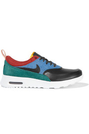 Nike Air Max Thea leather and calf hair sneakers