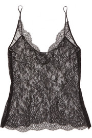 Carine Gilson Chantilly lace camisole