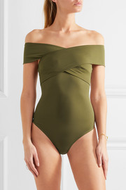 Wooster off-the-shoulder stretch-jersey bodysuit