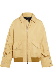 Oversized shell bomber jacket