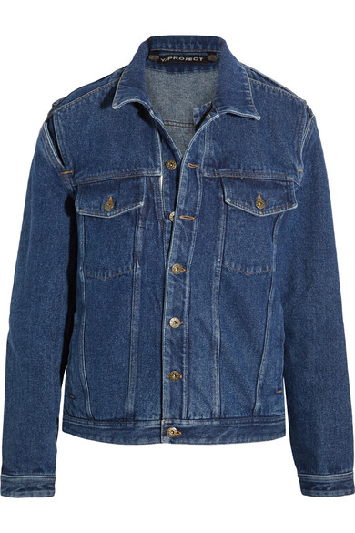 Y/PROJECT - Layered Denim Jacket - Dark denim