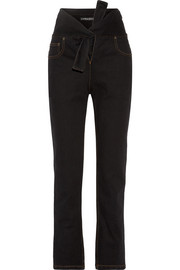 Y/PROJECT Tie-front high-rise straight-leg jeans