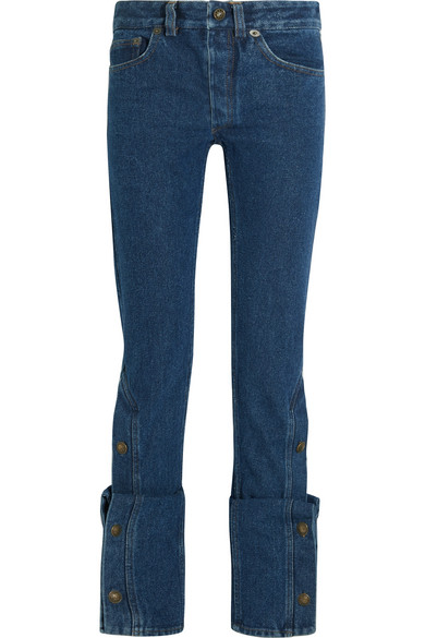 Y/PROJECT - High-rise Bootcut Jeans - Dark denim