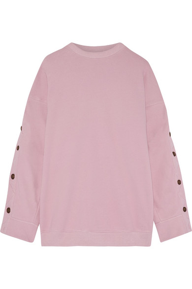 Y/PROJECT - Oversized French Cotton-blend Terry Sweatshirt - Lavender