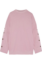 Oversized French cotton-blend terry sweatshirt