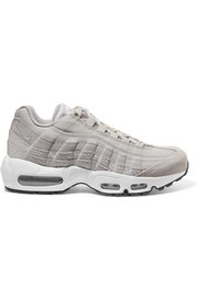 Nike Air Max 95 embossed suede and canvas sneakers