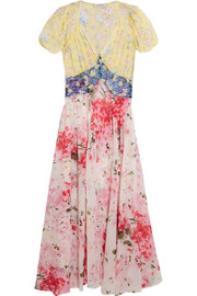Natalia floral-print silk-chiffon dress