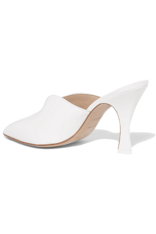 The Attico Monica patent-leather mules