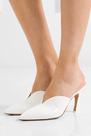 Attico Monica patent-leather mules