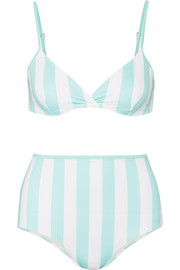 The Brigitte striped triangle bikini